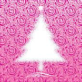 Pink Christmas — Stock Vector