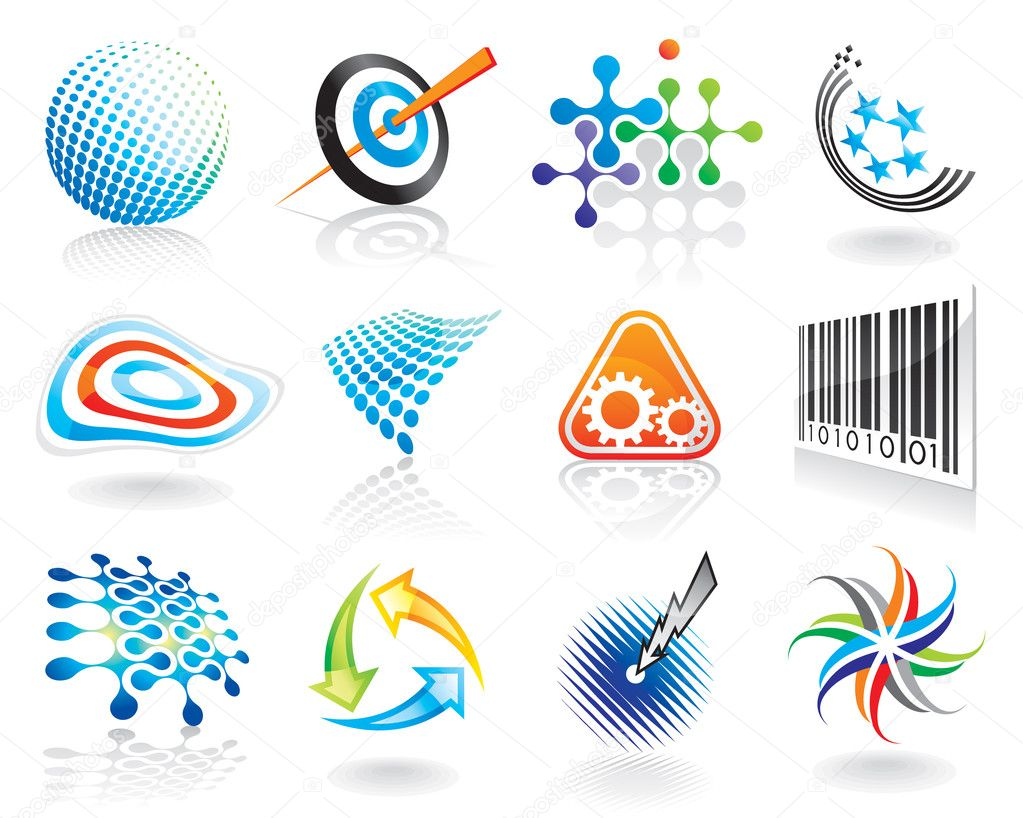 Set of abstract vector graphic symbol design. — Stock Vector #6282902