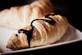 Cocolate croissant — Stock Photo