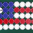 American flag poker — Stock Photo #5546760