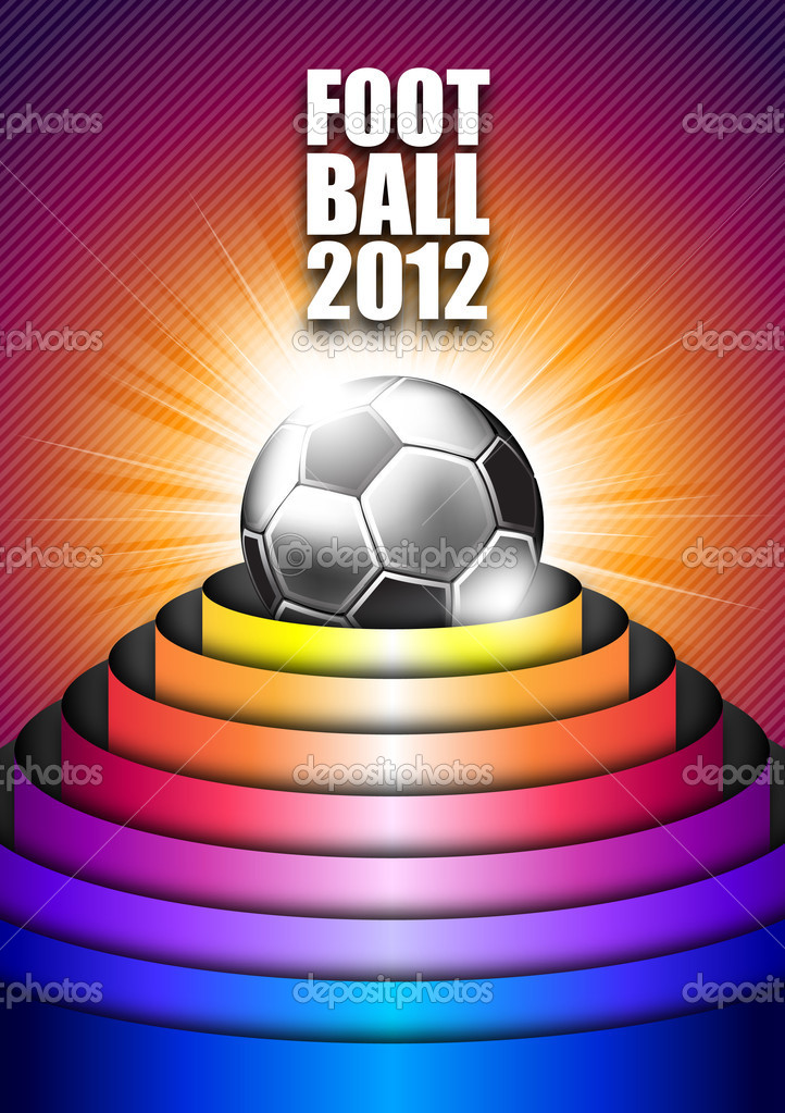 Vector soccer background — Stock Vector #6148233