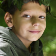 Boy in the forest — Stock Photo