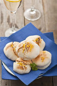 Smoked lemon meringue — Stock Photo