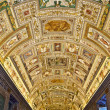 Italy. Rome. Vatican Museums - Gallery of the Geographical Maps - Stock Photo