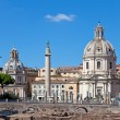 Italy. Rome. Trojan column, churches of Santa Maria di Loreto — Stock Photo