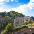 Italy. Rome. Ancient ruins of the Roman Forum - Stock Photo