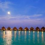 Island in ocean, Maldives. Night. — Stock Photo #5448349