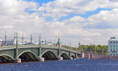 Russia.St. petersburg. Troitskyi Bridge over the river Neva. — Stock Photo