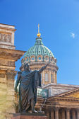 Russia. St.-Petersburg. A monument to Barclay de Tolli at the Kazan Cathedr — Stock Photo