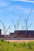 Строительство новой частью морской торговый порт Усть-Луга. Россия. — Стоковое фото