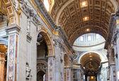 Italy. Rome. Vatican. St Peter's Basilica. Indoor view. — Stock Photo