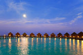 Island in ocean, Maldives. Night. — Stock Photo