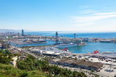 Spain. Barcelona. The top view on seaport. — Stock Photo