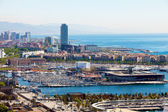 Spain. Barcelona. The top view on seaport — Stock Photo