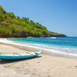 Indonesia. Bali.  boat on an ocean coast - Stock Photo
