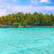 Island in ocean, Maldives — Stock Photo