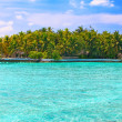 Stock Photo: Island in ocean, Maldives
