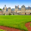 France. Park and a palace of Fontainebleau - Stockfoto