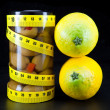 Stock Photo: Healthy food - olive and lemons support harmonous figure