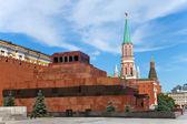 列宁墓和克里姆林宫塔楼。莫斯科。俄罗斯. — 图库照片