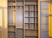 New wardrobe in the course of assemblage — Stock Photo