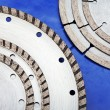 Diamond discs for cutting of tile - Foto de Stock