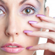 Woman with a make-up and long nails — Stock Photo #6462907