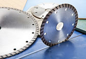 Diamond discs for cutting of tile — Stockfoto