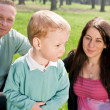Happiness family outdoors — Stock Photo #5424626