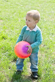 Portrait of little boy outdoors — Stock Photo