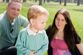 Happiness family outdoors — Stock Photo