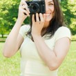 Woman taking photo — Stock Photo #5748090