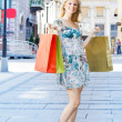 Attractive shopping woman — Stock Photo #5799687