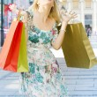 Stock Photo: Attractive shopping woman