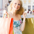Happiness shopping girl — Stock Photo