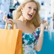 Excited shopping woman — Stock Photo #5799870