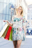 Jolie fille shopping — Photo