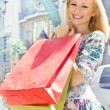 Attractive shopping girl — Stock Photo #5800134