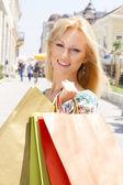çekici alışveriş kadın — Stok fotoğraf