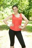 Fitness kadın açık havada — Stok fotoğraf