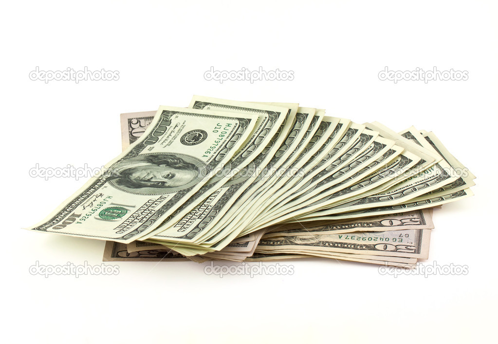 US dollars isolated on white — Stock Photo #5399926