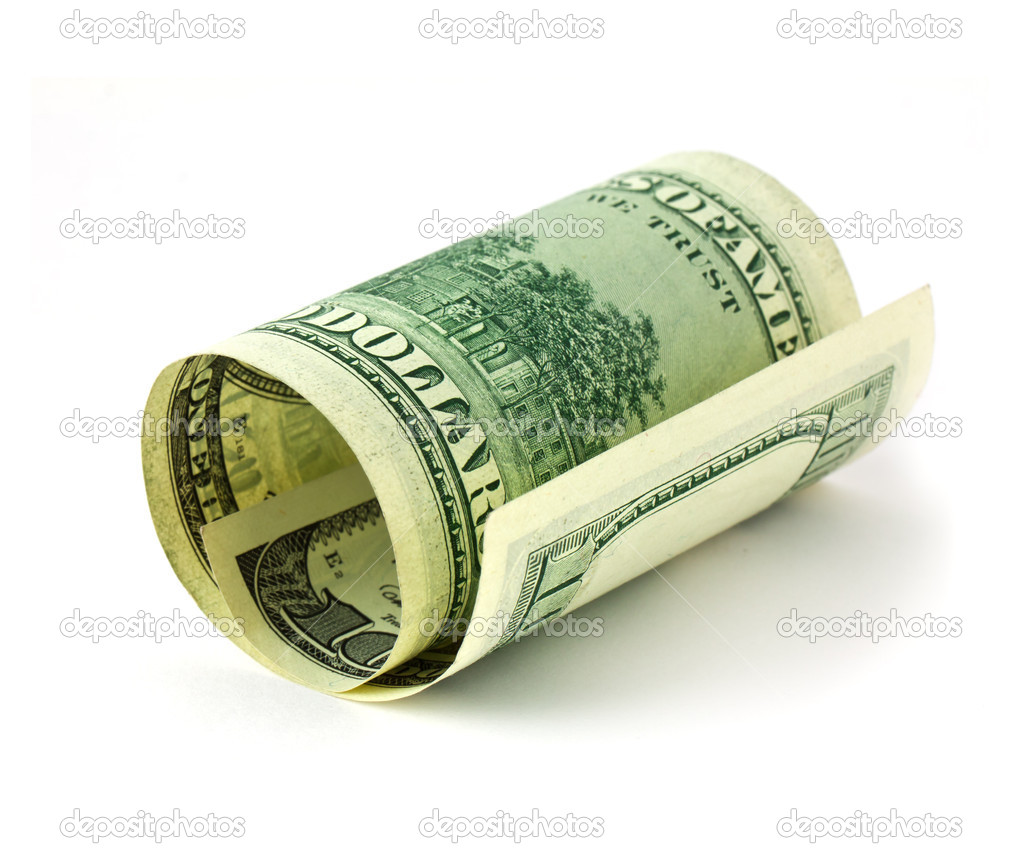 USA dollars on white background — Stock Photo #5399931