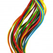 Bundle of color cables — Stock Photo