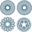Royalty-Free Stock Vector Image: Set of guilloche rosette