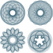 Set of guilloche rosette - Stock Vector