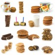 Set of cookies and candies — Stock Photo