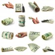 Set of dollars — Stock Photo