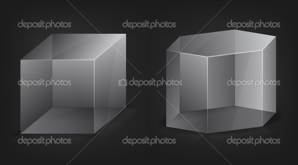 Abstract 3D vector shapes  Stock Vector #6289619