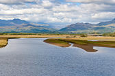 View across Snowdonia from Porthmadog — Stock Photo