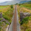 Railway in mountains of Snowdonia — Stock Photo #6729763